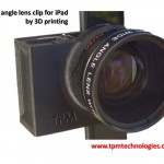Clip to hold and align 37mm lens to iPad front